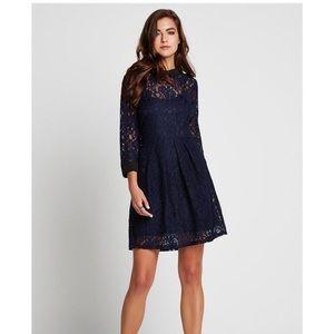 [BCBGeneration] Navy & Black Lace Dress